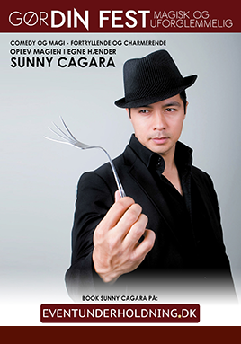 magisk Underholdning Firmafest Tryllekunstner Sunny Cagara